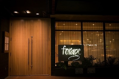 Exterior Signage of Forage Restaurant