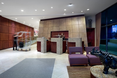 Listel Hotel Lobby & Front Desk